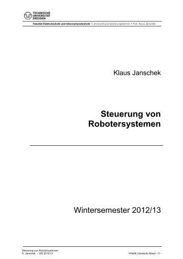 Steuerung von Robotersystemen - Fakultät Elektrotechnik und ...