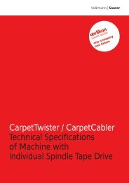 CarpetTwister / CarpetCabler Technical Specifications of Machine ...