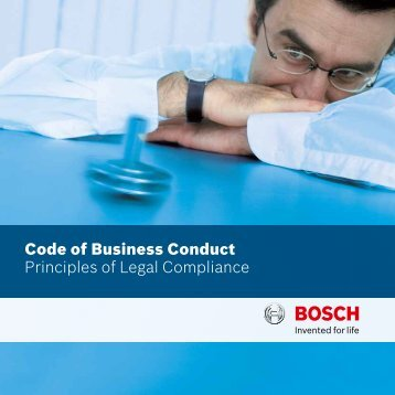 Code of Business Conduct Principles of Legal Compliance
