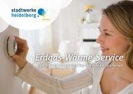 Broschüre: Erdgas-Wärme-Service - Stadtwerke Heidelberg