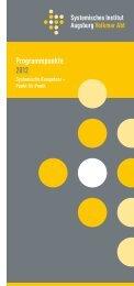 Programmpunkte 2012 - Systemisches Institut Augsburg Volkmar Abt