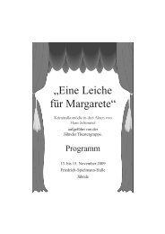 """""""Eine Leiche für Margarete"""" - Jühnder Theatergruppe"""