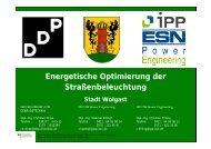 Energetische Optimierung der Straßenbeleuchtung - Stadt Wolgast