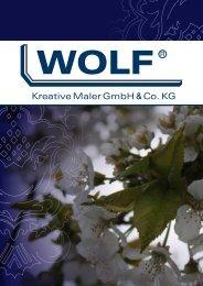 Kreative Maler GmbH & Co. KG - Wolf - Kreative Maler