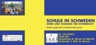 SCHULE IN SCHWEDEN - ISOP
