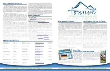 Newsletter - Great Falls Tourism Business Improvement District