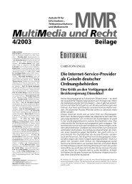 Die Internet-Service-Provider als Geiseln deutscher ...