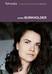 SIGRID BURKHOLDER - Fehrecke