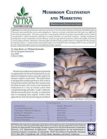 Mushroom Cultivation and Marketing - Mushroom Growers' Newsletter