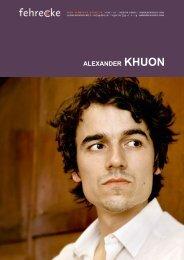 ALEXANDER KHUON - Fehrecke
