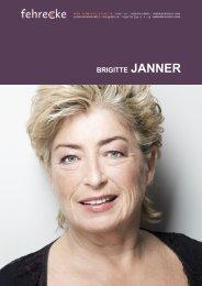 BRIGITTE JANNER - Fehrecke