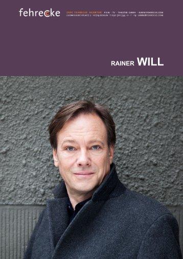 RAINER WILL - Fehrecke