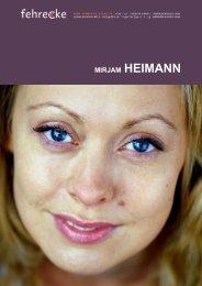 MIRJAM HEIMANN - Fehrecke