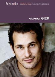 ALEXANDER GIER - Fehrecke