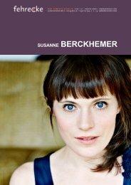 SUSANNE BERCKHEMER