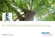 Der Wechsel zu energieeffizienter Beleuchtung - Krause