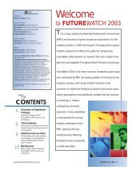 futurewatch 2003 - Meeting Professionals International