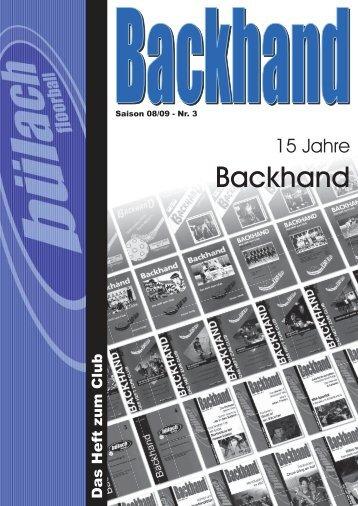 15 Jahre Backhand - Bülach Floorball
