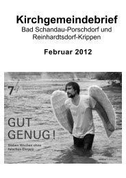 Kirchgemeindebrief Februar 2012 - Evangelisch-Lutherische Kirche ...