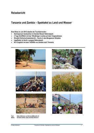 Reisebericht: Ostafrika-Pilotreise 2012 - Christian Dinkel