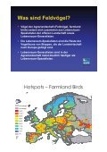 Situation der Vögel in der Kulturlandschaft in Europa - Seite 6