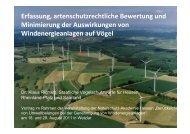 Erfassung, artenschutzrechtliche Bewertung und Minimierung der ...