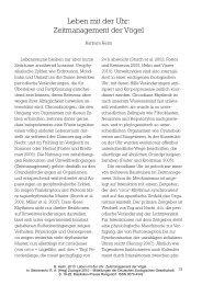 Zeitmanagement der Vögel - Deutsche Zoologische Gesellschaft