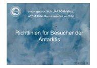 Richtlinien für Besucher der Antarktis - inasea