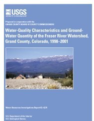 Water-Quality Characteristics and Ground- Water Quantity of ... - USGS