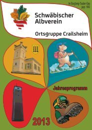 Jahresprogramm - beim Schwäbischen Albverein