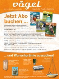 Aboformular als PDF (3,9 MB) - Vögel - Magazin für ...