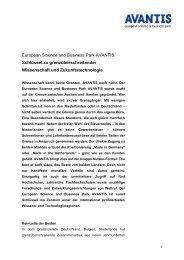 European Science and Business Park AVANTIS ... - Stadt Aachen