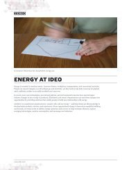 ENERGY AT IDEO