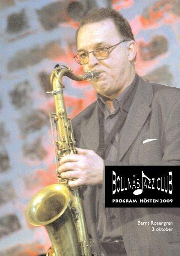 Bernt Rosengren 3 oktober - Bollnäs Jazz Club