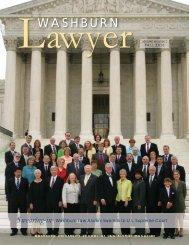 Washburn Lawyer, v. 48, no. 1 - Washburn University School of Law