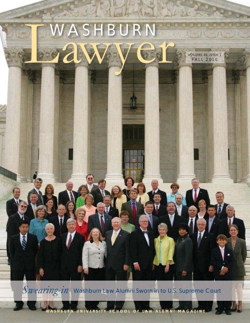 Washburn Lawyer, v  48, no  1 - Washburn University School of Law