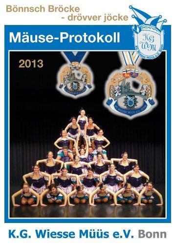 Festschrift für 2013 - KG Wiesse Müüs eV