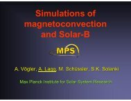 Simulations of magnetoconvection and Solar-B