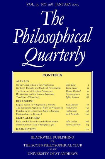 The Structure of Sceptical Arguments - Philosophy