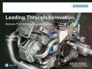 Siemens Solid Edge Business Update -Tony Affuso - Dezignstuff