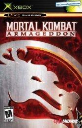 Mortal Kombat: Armageddon - Microsoft Xbox - Manual ...