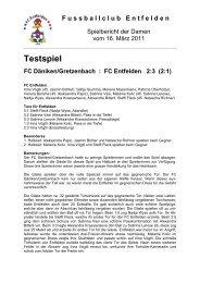 Testspiel FC Däniken/Gretzenbach - FC Entfelden