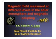 Magnetic field measured at different levels in the solar atmosphere ...