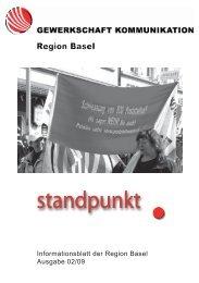 Informationsblatt der Region Basel Ausgabe 02/09 - syndicom ...