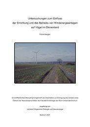 Untersuchungen zum Einfluss der Errichtung und des Betriebs von ...