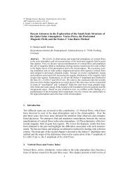 Recent Advances in the Exploration of the Small-Scale Structure of ...