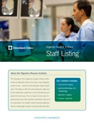 Staff Listing - Cleveland Clinic