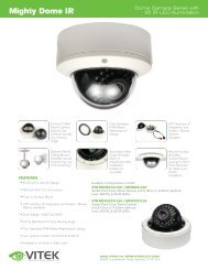 Vitek Spec Sheet (Page 1) - AMA Security