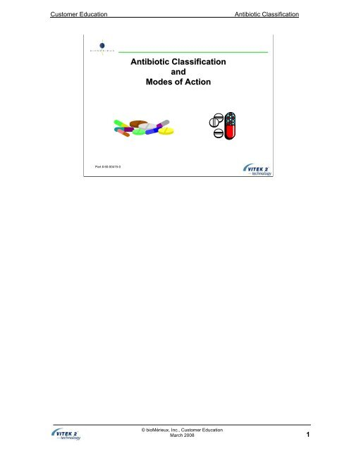 Antibiotic Classification and Modes of Action - bioMerieux