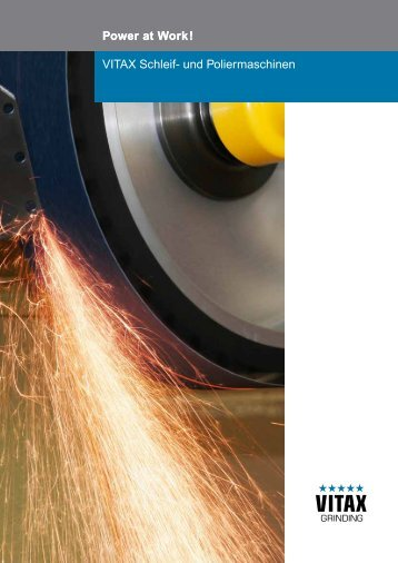 VITAX Schleif- und Poliermaschinen Power at Work ! - SERVAX